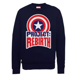 Sweat Homme Marvel Avengers Assemble - Captain America Project Rebirth - Noir