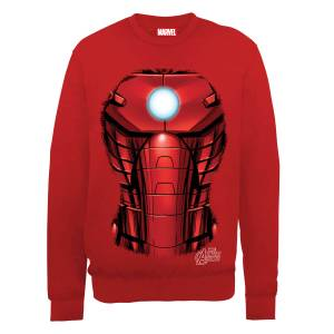 Felpa Marvel Avengers Assemble Iron Man Chest Burst - Rosso
