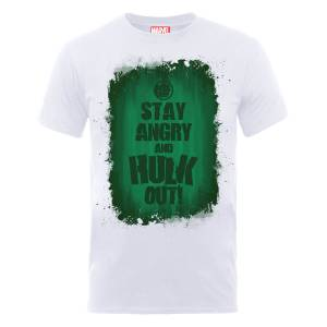 Marvel Avengers Assemble Hulk Stay Angry T-shirt - Wit