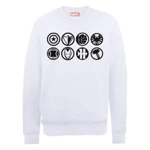 Marvel Avengers Assemble Team Icons Sweatshirt - White