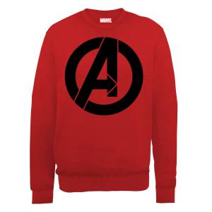 Marvel Avengers Assemble Simple Logo Sweatshirt - Red