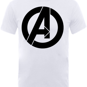 T-Shirt Marvel Avengers Simple Logo - Bianco