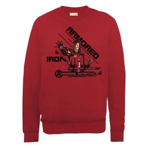 Marvel Avengers Assemble Armored Iron Man Sweatshirt - Red