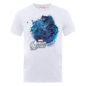 T-Shirt Homme Marvel Avengers Assemble - Captain America Montage - Blanc