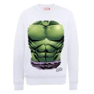 Sweat Homme Marvel Avengers Assemble - Torse Hulk - Blanc