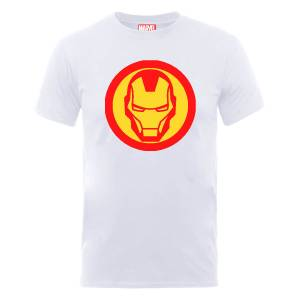 T-Shirt Homme Marvel Avengers Assemble - Symbole Iron Man - Blanc