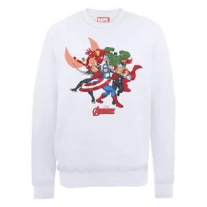 Marvel Avengers Assemble Comic Team Sweatshirt - White