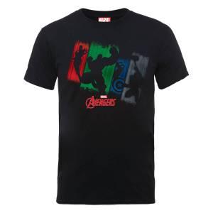 T-Shirt Homme Marvel Avengers - Team Punch - Noir