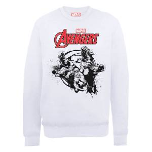 Marvel Avengers Assemble Team Burst Sweatshirt - White