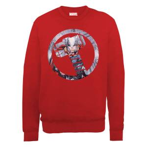 Sweat Homme Marvel Avengers Assemble - Thor Montage - Rouge