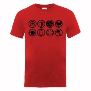 T-Shirt Homme Marvel Avengers Assemble - Team Icons - Rouge