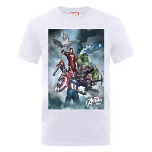 Marvel Avengers Team Montage T-Shirt - White