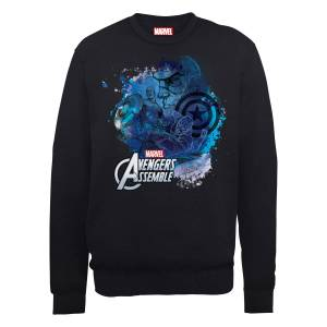 Sweat Homme Marvel Avengers Assemble - Captain America Montage - Noir