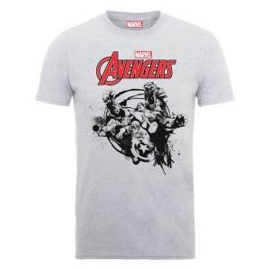 Marvel Avengers Team Burst T-Shirt - Grey
