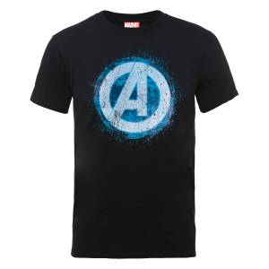 T-Shirt Homme Marvel Avengers Assemble - Logo Brillant - Noir