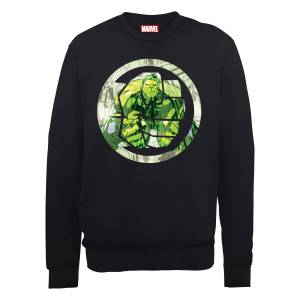 Marvel Avengers Assemble Hulk Montage Sweatshirt - Black