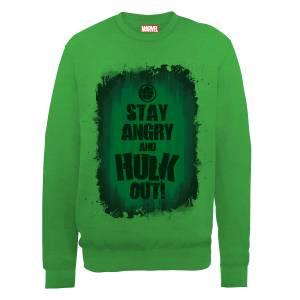 Marvel Avengers Assemble Hulk Stay Angry Sweatshirt - Green