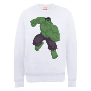 Marvel Avengers Assemble Hulk Pose Sweatshirt - White
