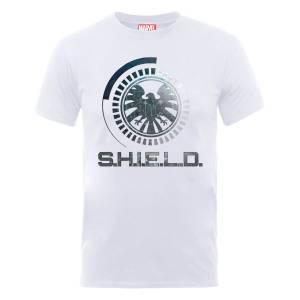 T-Shirt Homme Marvel Avengers Assemble - Bouclier Badge - Blanc