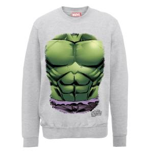Marvel Avengers Assemble Hulk Chest Sweatshirt - Grey