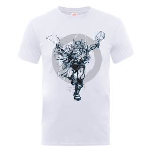 Marvel Avengers Assemble Thor Circle T-Shirt - White