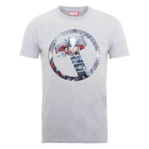 T-Shirt Homme Marvel Avengers Assemble - Thor Montage - Gris