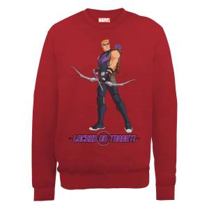Sweat Homme Marvel Avengers Assemble - Hawkeye Locked On - Rouge