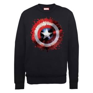 Felpa Marvel Avengers Assemble Captain America Art Shield - Nero