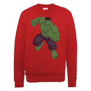 Sweat Homme Marvel Avengers Assemble - Hulk Pose - Rouge