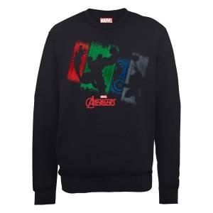 Marvel Avengers Assemble Team Punch Out Sweatshirt - Black