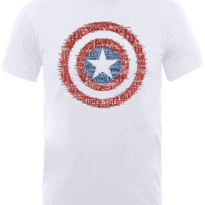 Marvel Avengers Assemble Captain America Super Soldier T-Shirt - White