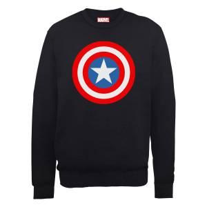Sweat Homme Marvel Avengers Assemble - Captain America Simple Bouclier - Noir