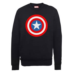 Marvel Avengers Assemble Captain America Simple Shield Trui - Zwart