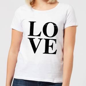 Love Textured Women's T-Shirt - White