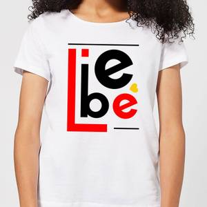 Liebe Block Women's T-Shirt - White