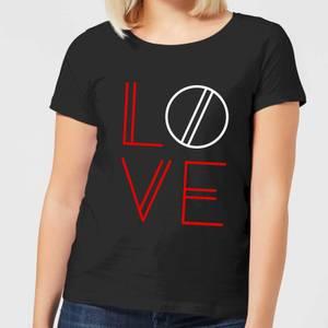 T-Shirt Femme Love Géométrique - Noir