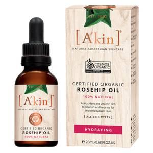 Органическое масло шиповника A'kin Certified Organic Rosehip Oil 20мл