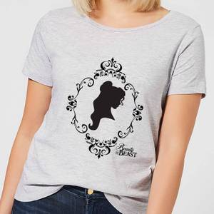 Disney Beauty And The Beast Belle Silhouette Women's T-Shirt - Grey