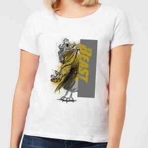 T-Shirt Femme En Colère - La Belle et la Bête (Disney) - Blanc