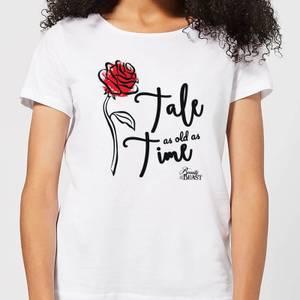 T-Shirt Femme Histoire Éternelle - La Belle et la Bête (Disney) - Blanc