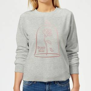 Disney Beauty And The Beast Princess Rose Gold Women's Sweatshirt - Grey