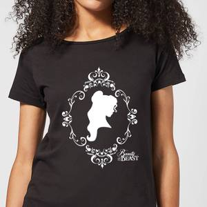 Disney Beauty And The Beast Belle Silhouette Women's T-Shirt - Black
