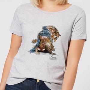 Disney Beauty And The Beast Sketch Women's T-Shirt - Grey
