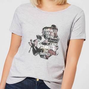 Camiseta Disney La Bella y la Bestia Happiness - Mujer - Gris