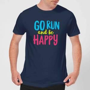 Go Run And Be Happy T-Shirt - Navy