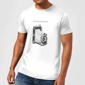 Photography Vintage Scribble T-Shirt - White