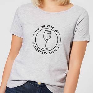 Liquid Diet Wine Women's T-Shirt - Grey