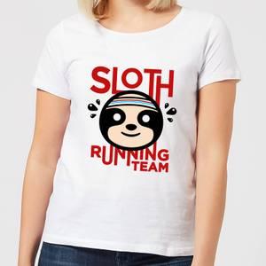Sloth Running Team Women's T-Shirt - White