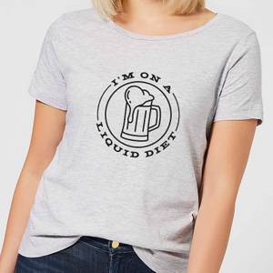 Liquid Diet Beer Women's T-Shirt - Grey