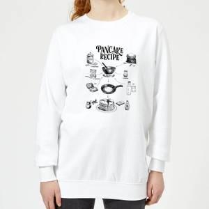 Pancake Recipe Women's Sweatshirt - White